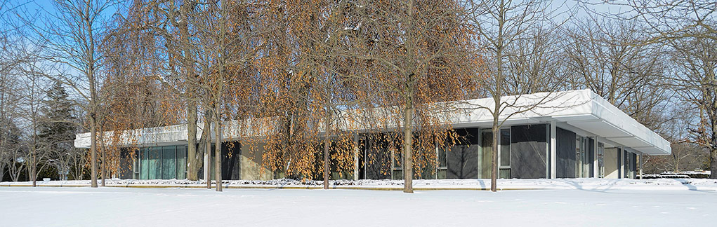 Winter at miller house
