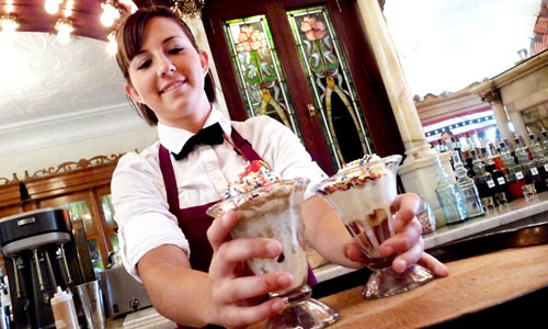 Zaharakos ice cream girl