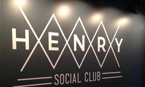 Henry social club signage